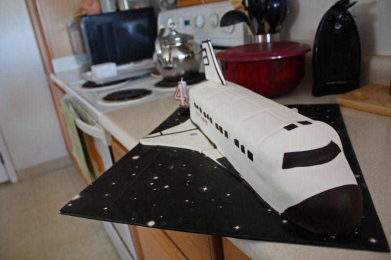 Astounding Space Shuttle Cake Little Blurbs Personalised Birthday Cards Vishlily Jamesorg
